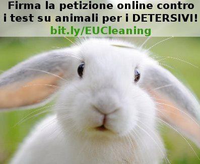 Petizione contro i test su animali per i detergenti